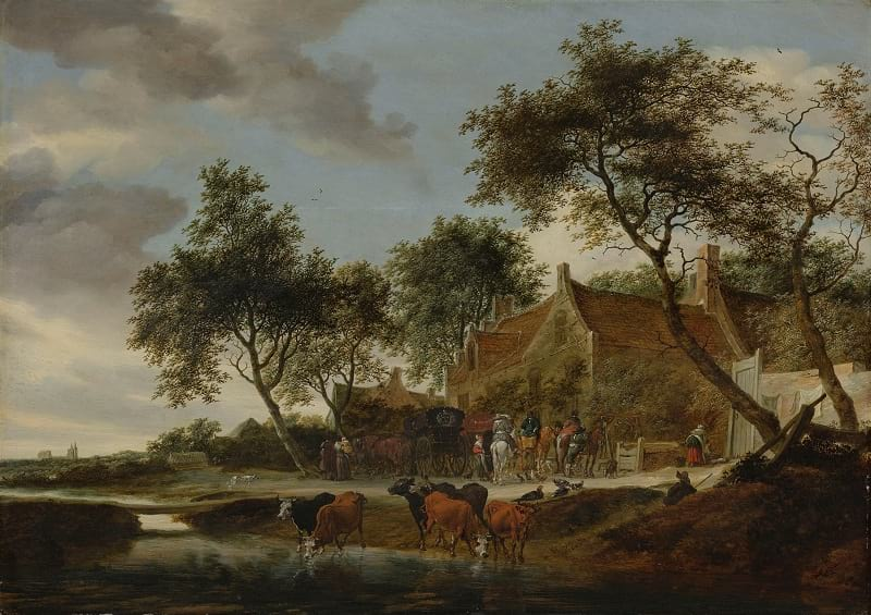 Salomon van Ruysdael - Pleisterplaats