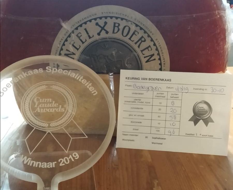 De Sophiahoeve wint CumLaude Award 2019 met de BoerenLeyden Traditioneel