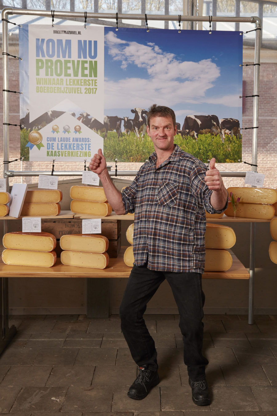 Met een oude BoerenLeidse kaas won de Sophiahoeve de Cum Laude Award 2017 voor beste boerenkaasspecialiteit