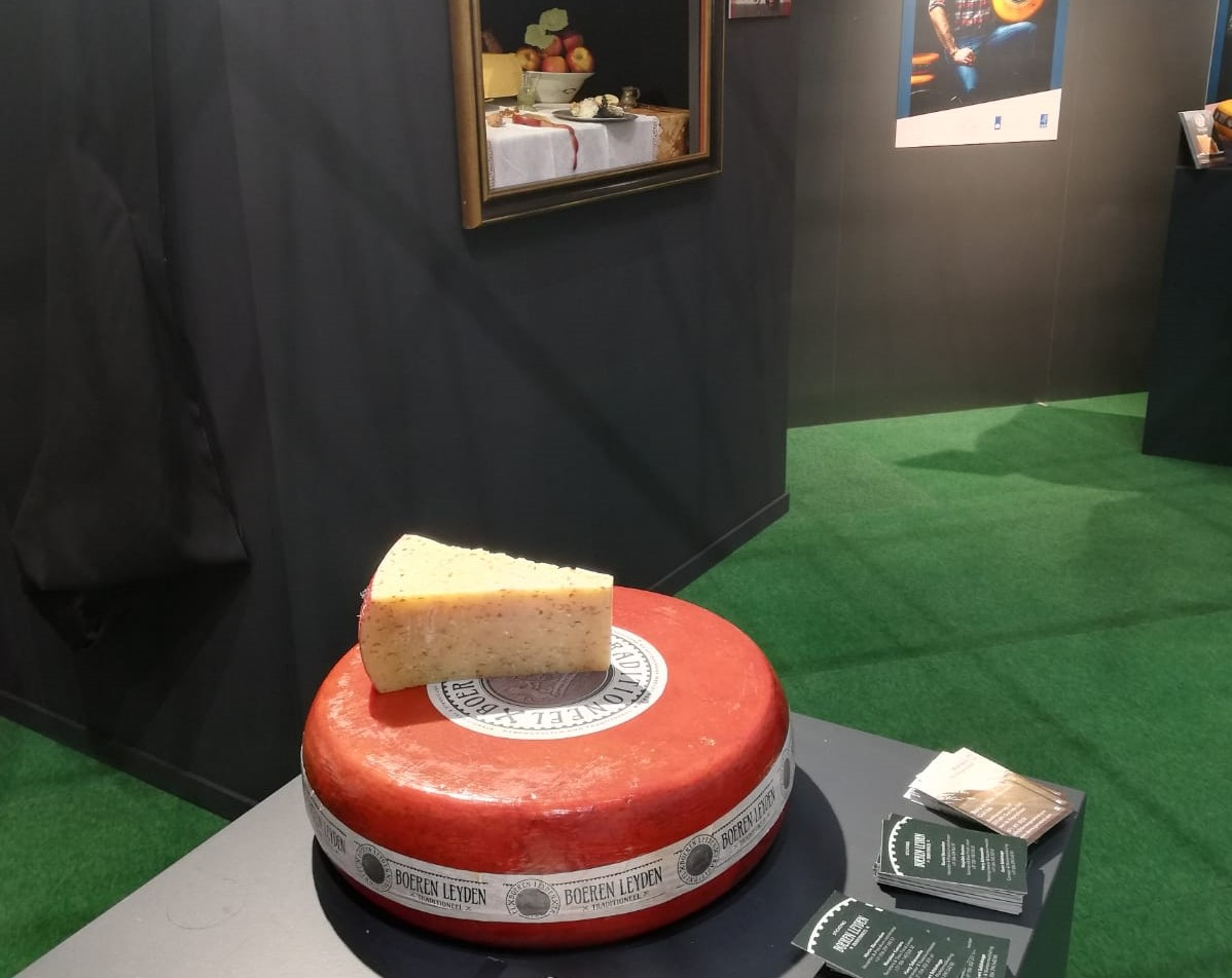 bij Taste the Dutch Masters op de Grüne Woche in Berlijn werd ook de oude Leidse kaas van de Sophiahoeve gepresenteerd